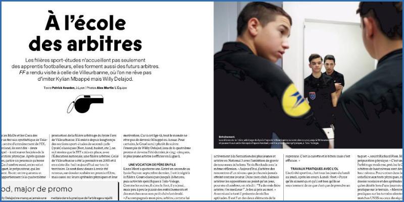 Article France Football: A l'école des arbitres