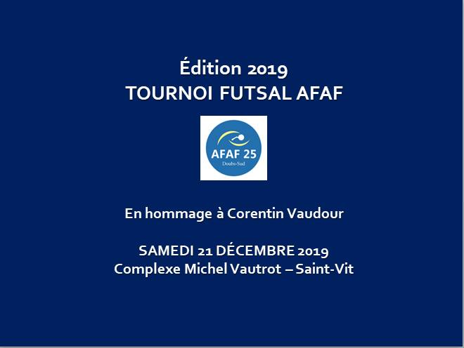 Tournoi futsal AFAF Doubs Sud 2019